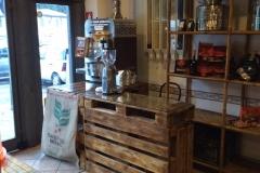 Tostatrice da banco tostabar genius k1 angolo torrefazione con silos per caffe in grani in metallo